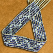 hand-crafted wampum belt